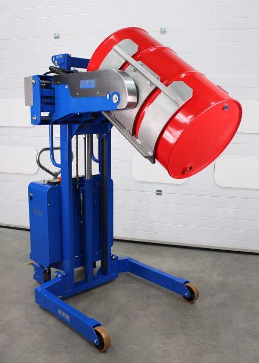 An STS drum rotator, a piece of safe manual handling equipment.