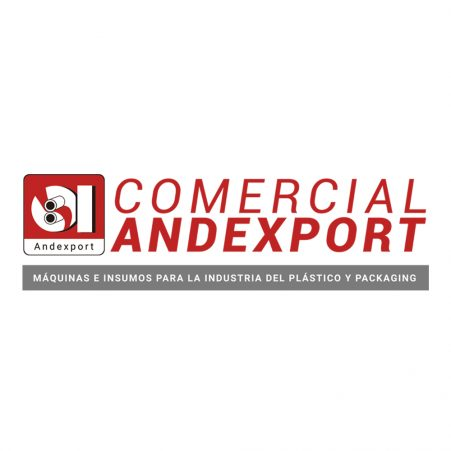 The logo for Comercial Andexport, a distributor of STS materials handling solutions in Chile.