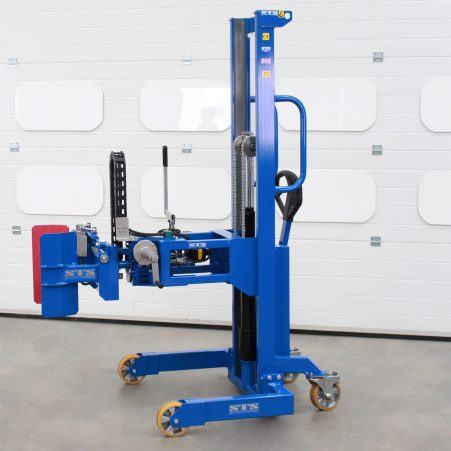 A powered cylinder-handling machine made by STS