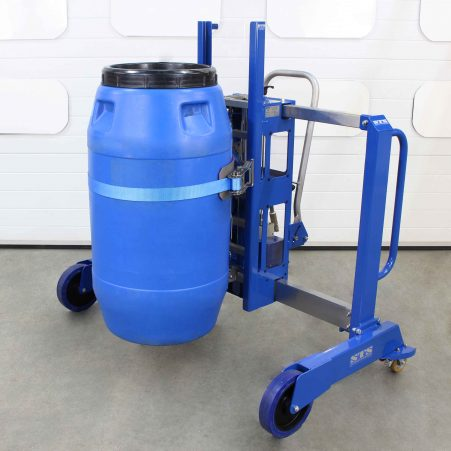 Side-Shift Plastic Barrel Mover to handle HDPE drums