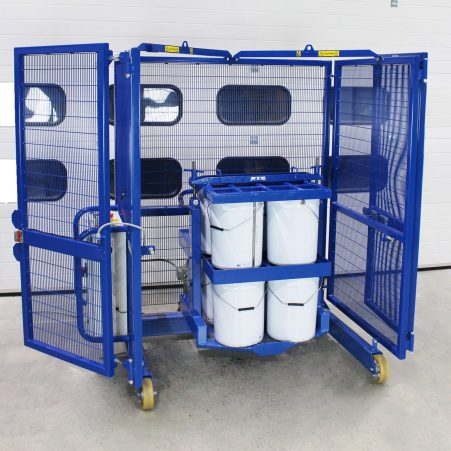 25 Litre paint drums held in an STS drum tumbler