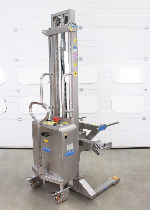 stainless steel drum tipper suitable for the pharmaceutical industry