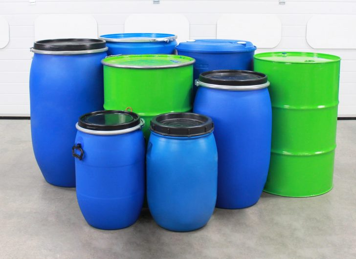 A selection of drums that can be handled by the counterbalance drum stacker