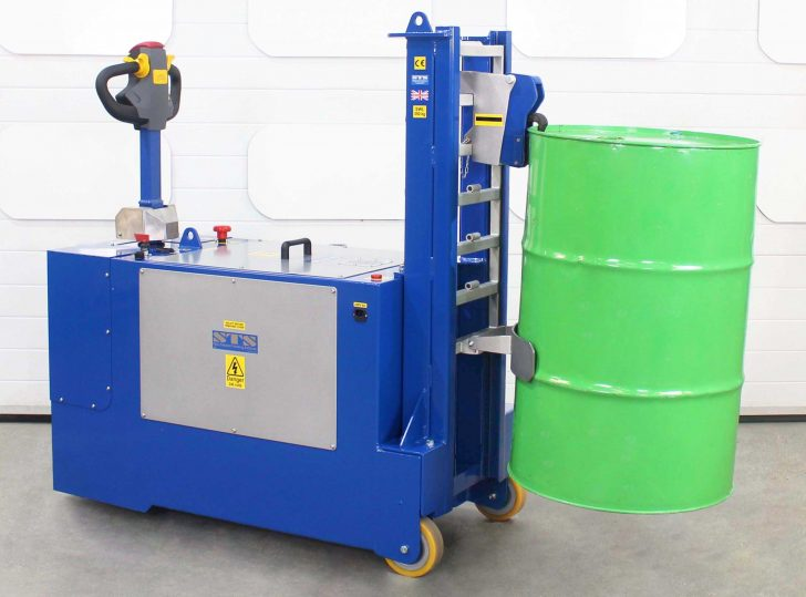 Counterbalance design is ideal for loading 205L drums onto pallets, bunds and other machines