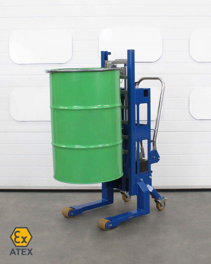 ATEX Hydraulic drum lifter suitable use in zoned areas