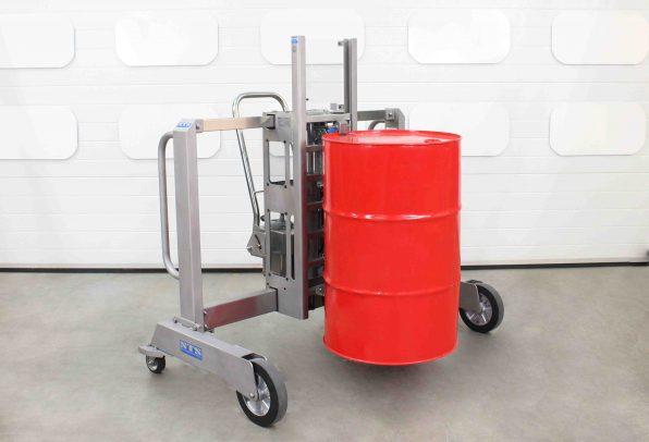Stainless-Steel Drum Lifter perfect for lifting drums on and off pallets.