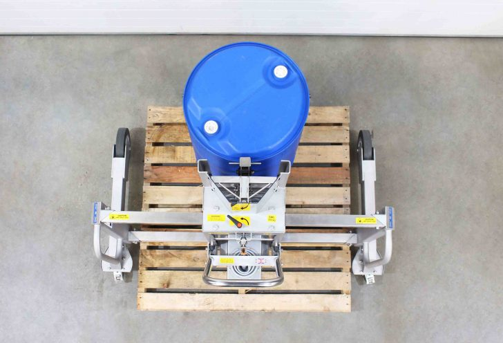 Stainless Steel Drum Lifter great for applciations that involve working in a food grade of GMP area