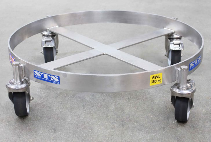 Drum Dolly manufactured in full stainless steel