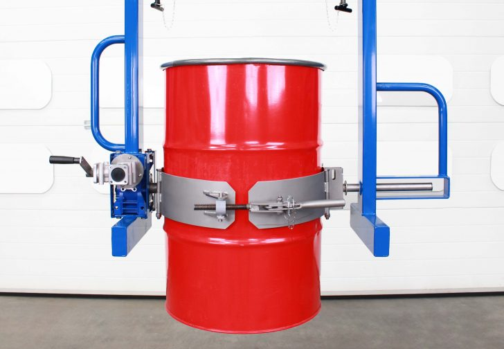 Image of fixed band on overhead drum rotator- band is suitable for 200 litre drums