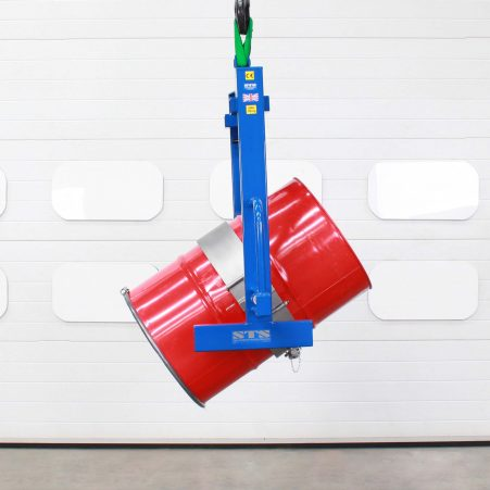 Overhead crane tipper with fixed band