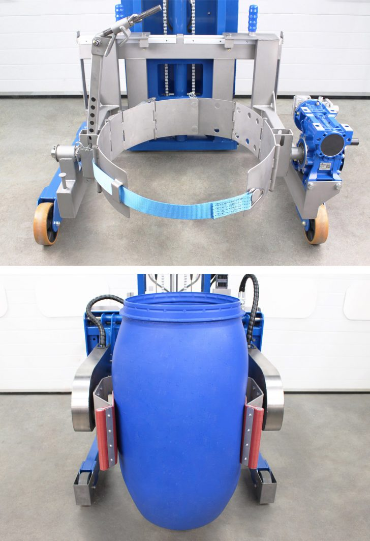 Head assembly available on the power drive drum tipper