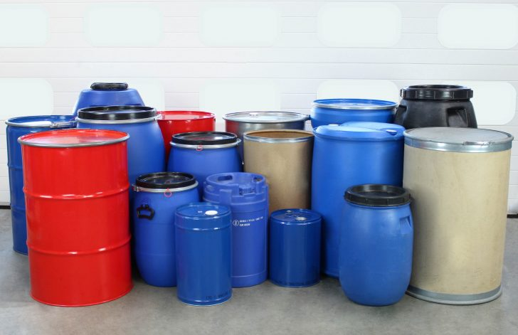 A range of drums suitable for being handled by an STS drum tipper.