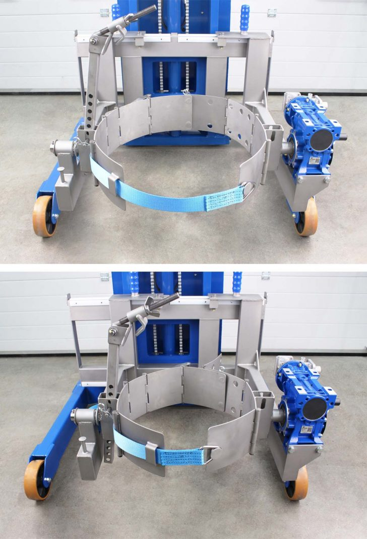 Manual drum clamp suitable for 50-200 litre drums