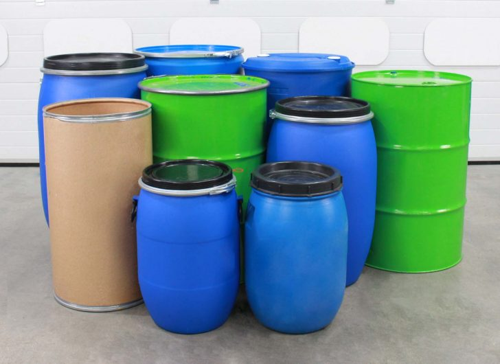 A variety of drums that can used with the ATEX Stainless Steel Universal Drum Tipper.