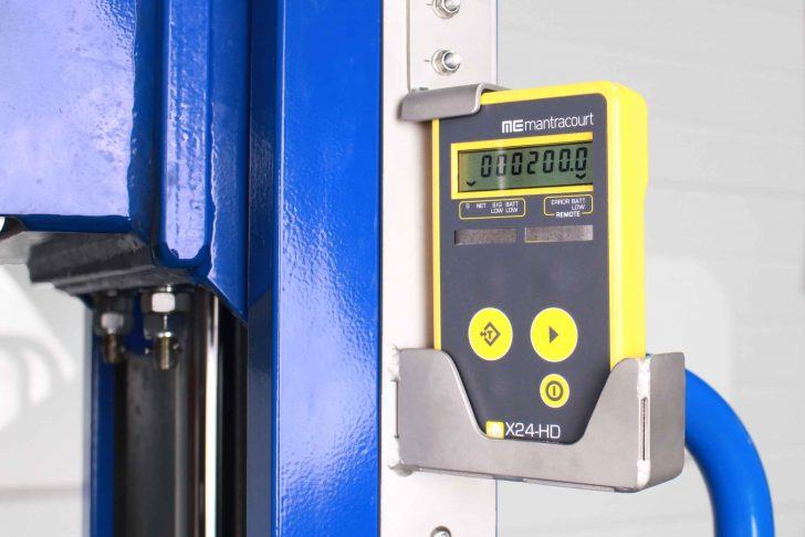 The ATEX Forked Pneumatic Stacker is fitted with ATEX Wireless Load cells suitable for zones areas