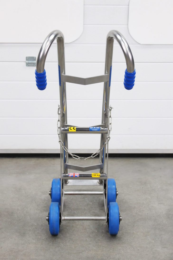 The STS Gas Cylinder Trolley, which is made from stainless steel