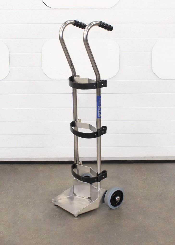 Stainless Steel medical gas cylinder trolley